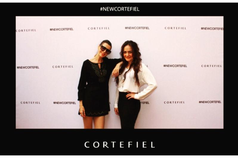 Photocall de Cortefiel con Migi Solini (izquierda).